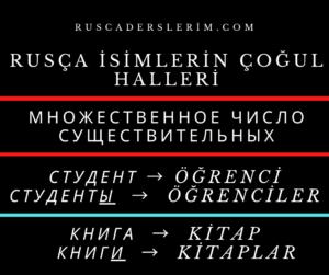 Rusça İsimlerin Çoğul Halleri