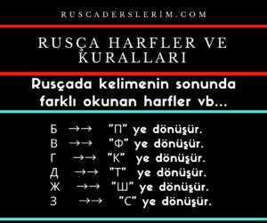 Rusça Harfler ve Kuralları