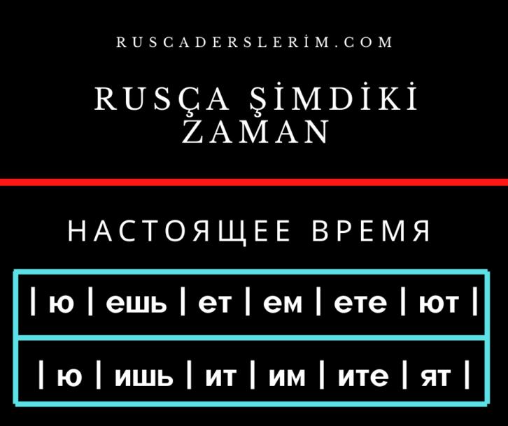 Rusça Şimdiki Zaman