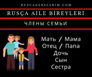 Rusça Aile Bireyleri