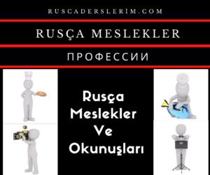 Rusça Meslekler